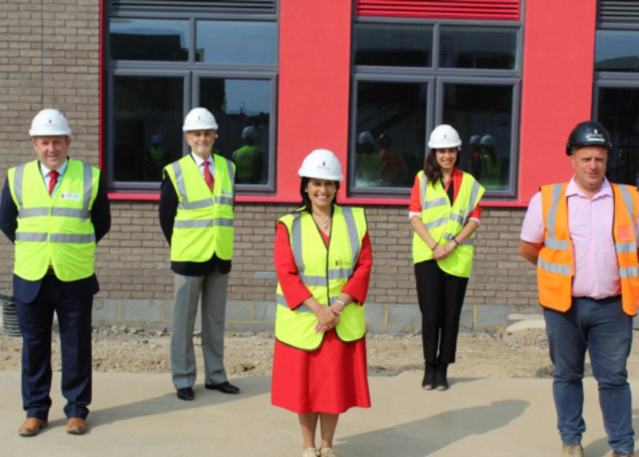 The Rt. Hon Priti Patel visits the school site